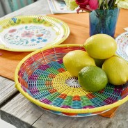 Colourful Boho Woven Tray 1