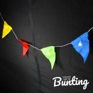 Light Up Bunting - 8 Illuminated Flags 4