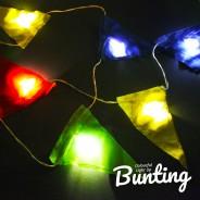 Light Up Bunting - 8 Illuminated Flags 6