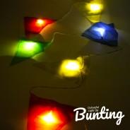 Light Up Bunting - 8 Illuminated Flags 8