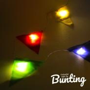 Light Up Bunting - 8 Illuminated Flags 10