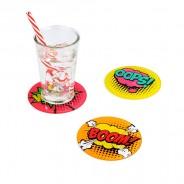 Pop Art Comic Coasters 1