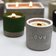 Concrete Soy and Woodwick Candles  2