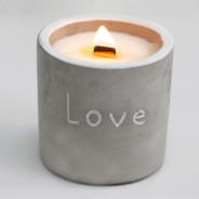Concrete Soy and Woodwick Candles  3 Fig & Cassis Love