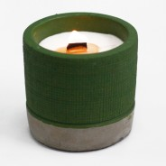 Concrete Soy and Woodwick Candles  5 Sea Moss & Herbs