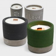 Concrete Soy and Woodwick Candles  1