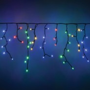Lyyt Connectable Icicle Lights  8 Multi Coloured