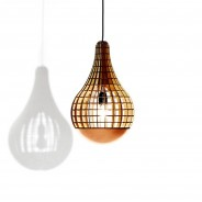 Aura Wooden Bulb with Copper Spinner 2