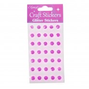 Craft Glitter Stickers 4 Pink