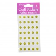 Craft Glitter Stickers 6 Gold