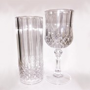 Crystal Effect Plastic Glasses - 2 Pack  1