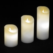 Dancing Flame Candles Ivory  1