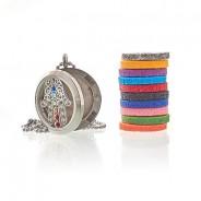 Diffuser Necklace - Hamsa Chakra 30mm (18) 3
