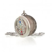 Diffuser Necklace - Hamsa Chakra 30mm (18) 2