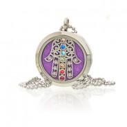 Diffuser Necklace - Hamsa Chakra 30mm (18) 1