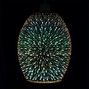 Dohan Antique Copper 3D Glass Pendant Shade (23034) 1