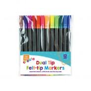 Dual Tip Felt Tip Pens (12 pack) 1