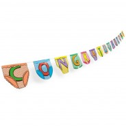 Congratulations Party Pants Bunting 2