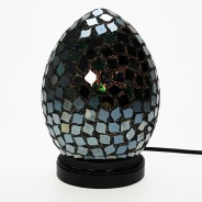 20cm Mosaic Egg Lamp 6 Green