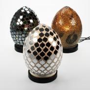 20cm Mosaic Egg Lamp 2