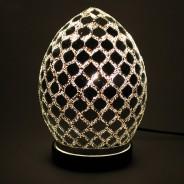 20cm Mosaic Egg Lamp 3 Mirrored