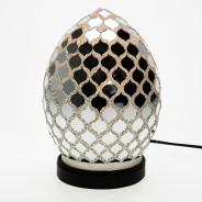 20cm Mosaic Egg Lamp 4 Mirrored