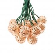 Elan Solar Copper Ball Fairy Lights 2