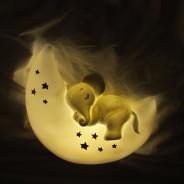 Mini LED Elephant and Moon Lamp 2