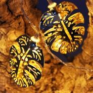 Gold Palm Leaf Fairy Lights 5
