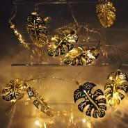Gold Palm Leaf Fairy Lights 2