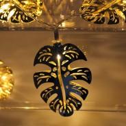 Gold Palm Leaf Fairy Lights 6