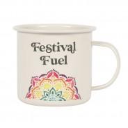 Festival Fuel Mandala Enamel Mug 2