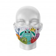 Cute Kids Washable Face Masks 4 Monsters