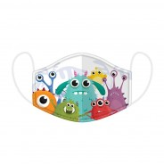 Cute Kids Washable Face Masks 5 Monsters