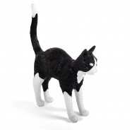 Seletti Jobby Cat Rechargeable Lamp 11 Black and White Cat