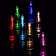 Colour Changing Fibre Optic Bottle Light 1