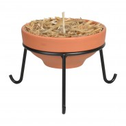 Terracotta Fire Pot and Stand 2 Terracotta Fire Pot and Stand