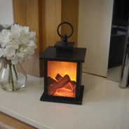 Fireplace Lantern with Timer 2