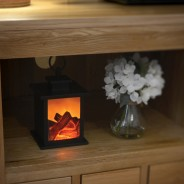 Fireplace Lantern with Timer 3