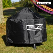 Flames Fire Pit & BBQ Grill With Rain Cover by Fire & Dine  3 Free Rainproof Cover
