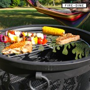 Flames Fire Pit & BBQ Grill With Rain Cover by Fire & Dine  10