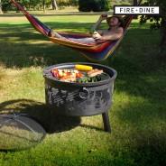 Flames Fire Pit & BBQ Grill With Rain Cover by Fire & Dine  2