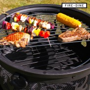Flames Fire Pit & BBQ Grill With Rain Cover by Fire & Dine  11