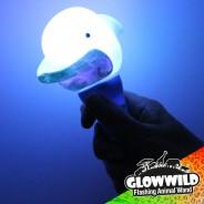 "Dolphin Mini Flashing Animal Wand 7"" Wholesale 2"