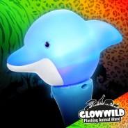 "Dolphin Mini Flashing Animal Wand 7"" Wholesale 7"