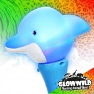 "Dolphin Mini Light Up Animal Wand 7"" 7"