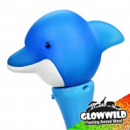 "Dolphin Mini Light Up Animal Wand 7"" 9"