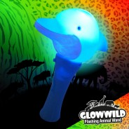 "Dolphin Mini Light Up Animal Wand 7"" 1"