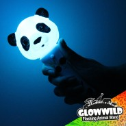 "Panda Mini Light Up Animal Wand 7"" 3"