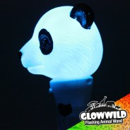 "Panda Mini Flashing Animal Wand 7"" Wholesale 7"